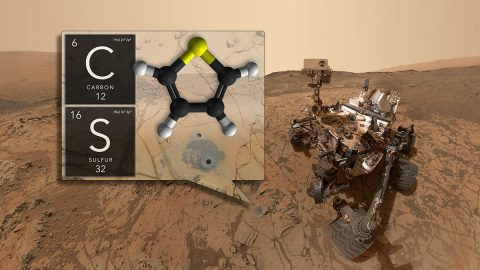 NASA's Curiosity rover has discovered ancient organic molecules on Mars, embedded within sedimentary rocks that are billions of years old. (NASA/GSFC)