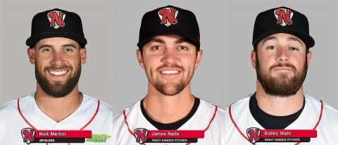 Nashville Sounds - Nick Martini, James Naile and Bobby Wahl