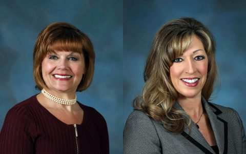 Planters Banks' Kelley Workman (L) and Leigh Durden (R).