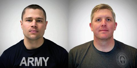 Fort Campbell Warrior Transition Battalion soldiers Sgt. John Weasner (right) and Maj. Adam Ziegler (left) to play in 2018 Warrior Games 2018 U.S. Department of Defense Warrior Games.