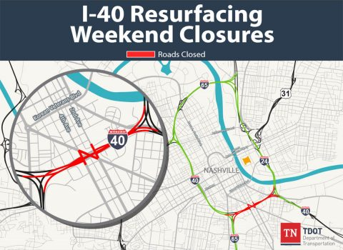TDOT I-40 Resurfacing Weekend Closures