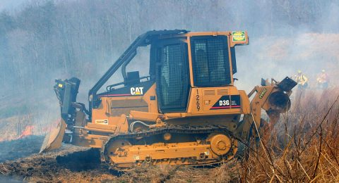 New Cat Dozer on Rx Burn in D-4