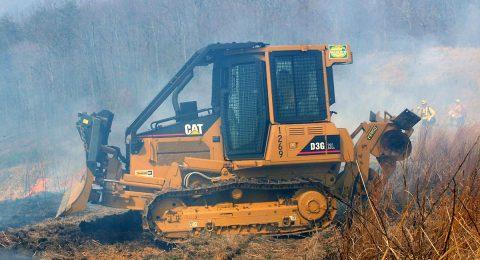 New Cat Dozer on Rx Burn in D-4