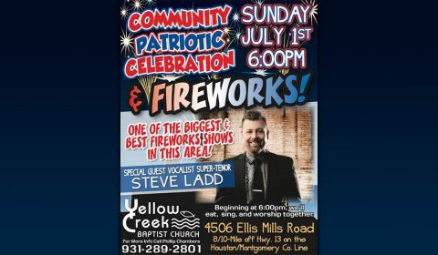 Yellow Creek Baptist Church 2018 Patriotic Celebration and Fireworks event