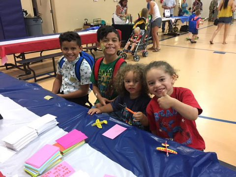Operation Homefront annual Back-to-School Brigade hands out school supplies at Fort Campbell.