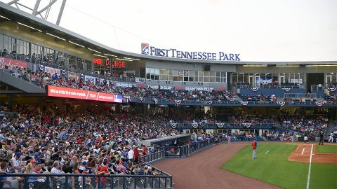 Nashville Sounds Fall to Iowa Cubs in Front of Huge Crowd at First Tennessee Park. (Nashville Sounds)
