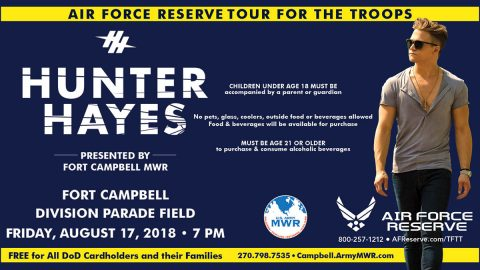 2018 Fort Campbell MWR - Hunter Hayes Concert set for August 17th