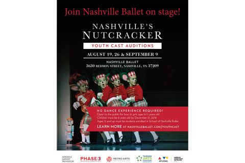 2018 Nashville Ballet Youth Audition for Nashville's Nutcracker
