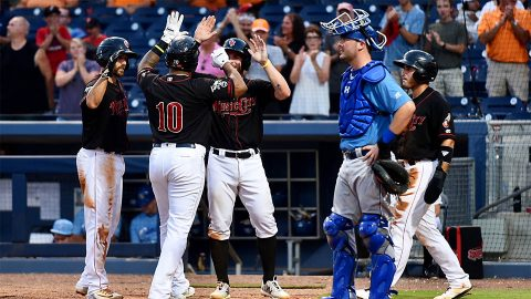Nashville Sounds DH Anthony Garcia Sets a Franchise Record with Eight RBI against Omaha Storm Chasers Tuesday night at First Tennessee Park. (Nashville Sounds)