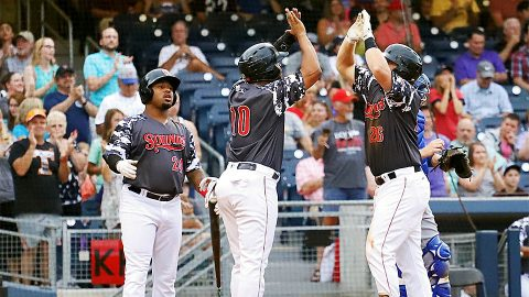 Sheldon Neuse Knocks in Four Runs for Nashville Sounds. (Nashville Sounds)