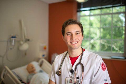 Austin Peay State University nursing student Hunter Burkhart won Vanderbilt University Medical Center's Credo Award in the critical care track during a summer internship at the hospital. (Denzil Wyatt)