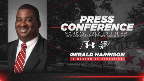 Austin Peay State University press conference for new Athletics Director Gerald Harrison set for July 30th. (APSU Sports Information)