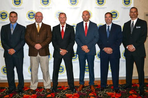 (L to R) Capt Ty Burdine, Capt James Smith, Chief Al Ansley, Capt David Crockarell, Capt Richard Stalder, Capt Scott Thornton.