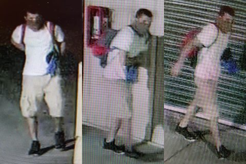 Clarksville Police are looking for the person in these photos for the burglary of a self storage facility on Dunbar Cave Road.