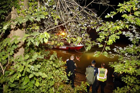 Clarksville Fire Rescue and Montgomery County Search and Rescue search for the man that jumped into the river. (Jim Knoll, CPD)