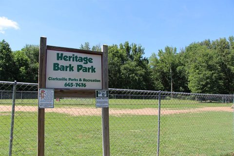 Clarksville Parks and Recreation closes Heritage Park Bark Park for maintenance.
