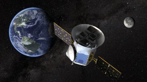 An artist's illustration of the Transiting Exoplanet Survey Satellite. (NASA's Goddard Space Flight Center)