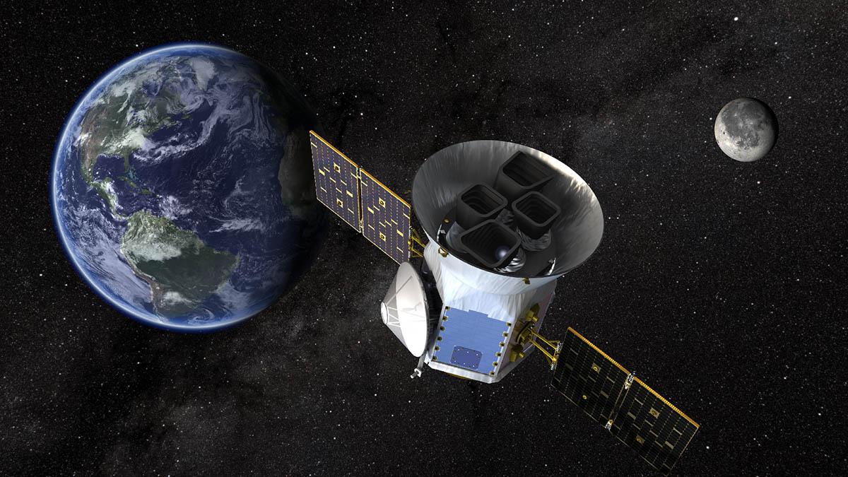 An artist's illustration of the Transiting Exoplanet Survey Satellite. (NASA's Goddard Space Flight Center)