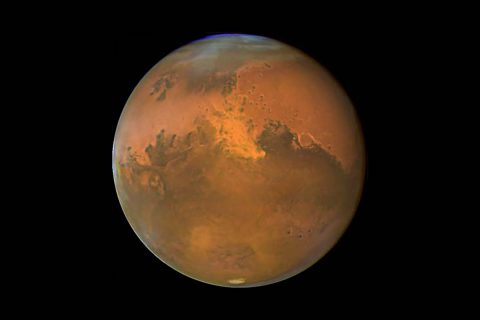 Mars is the fourth planet from the sun. (NASA)