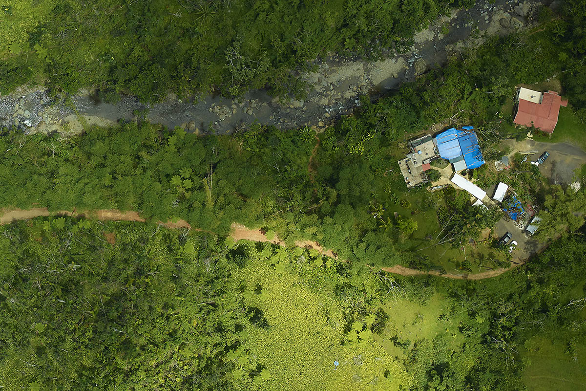 On April 25th, 2018, the G-LiHT team captured this aerial image of El Yunque National Forest. (NASA)