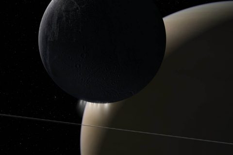 NASA's Cassini spacecraft's Grand Finale orbits found a powerful interaction of plasma waves moving from Saturn to its rings and its moon Enceladus. (NASA/JPL-Caltech)