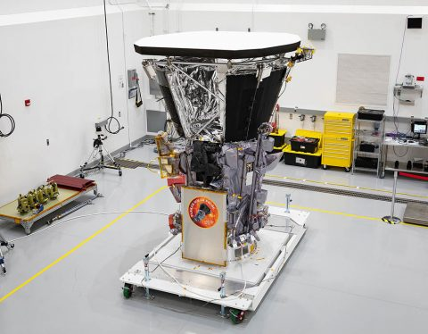 A Sun-skimming mission like Parker Solar Probe has been a dream of scientists for decades, but only recently has the needed technology – like the heat shield, solar array cooling system, and fault management system – been available to make such a mission a reality. (NASA/Johns Hopkins APL/Ed Whitman)