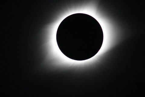 Parker Solar Probe will explore the corona, a region of the Sun only seen from Earth when the Moon blocks out the Sun's bright face during total solar eclipses. The corona holds the answers to many of scientists' outstanding questions about the Sun's activity and processes. This photo was taken during the total solar eclipse on Aug. 21, 2017. (NASA/Gopalswamy)