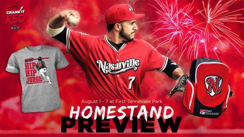 Kids Backpack Giveaway and Friday Fireworks Highlight Nashville Sounds Homestand. (Nashville Sounds)