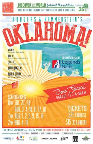 """Oklahoma!"" plays at the Roxy Regional Theatre July 27th - August 18th."