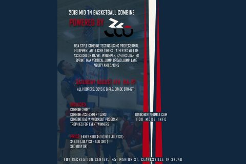 Train 360 Basketball Combine Flyer