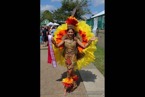 2016 Miss Princesa Americas - Kayla Hernandez in Aztec Attire at Clarksville's Riverfest