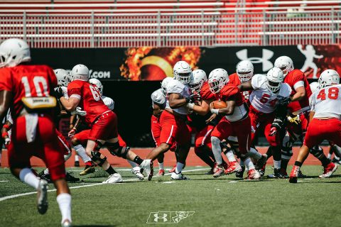 Austin Peay Football held their first fall camp scrimmage at Fortera Stadium, Saturday morning. (APSU Sports Information)