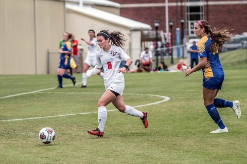 Austin Peay Women's Soccer drops 2-1 match at West Alabama, Sunday. (APSU Sports Information)