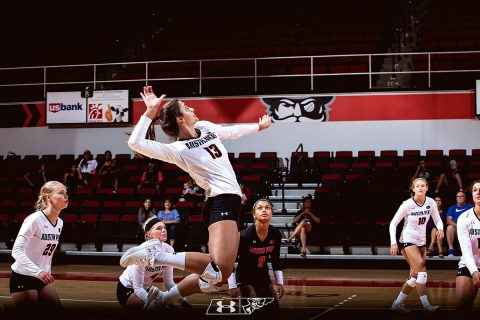 Austin Peay Women's Volleyball senior Cecily Gable led Govs with 17 kills in win over Western Michigan, Friday. (APSU Sports Information)