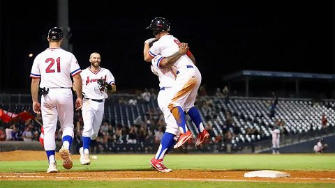 Boog Powell's Walk-Off Bunt Gives Nashville Sounds The Come-From-Behind Win Fresno Grizzlies. (Nashville Sounds)