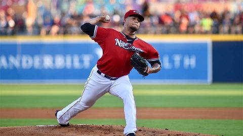 Nashville Sounds right-hander Frankie Montas Deals Six Shutout Innings in Win over Fresno Grizzlies at First Tennessee Park Friday night. (Nashville Sounds)