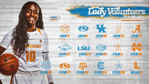Tennessee Lady Vols Basketball announces 2019 SEC Schedule. (UT Athletics)