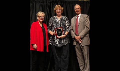 Dr. Gloria Miller, associate professor of business, received the APSU Socrates Award.