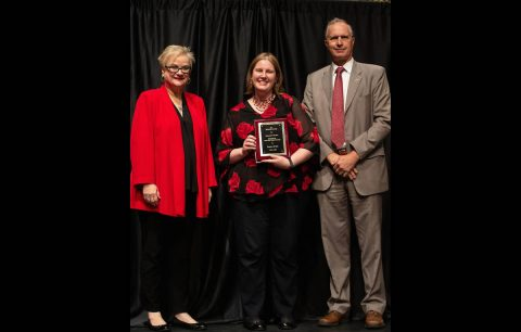 APSU's Dr. Kallina Dunkle, associate professor of geology, received the Socratres Award.