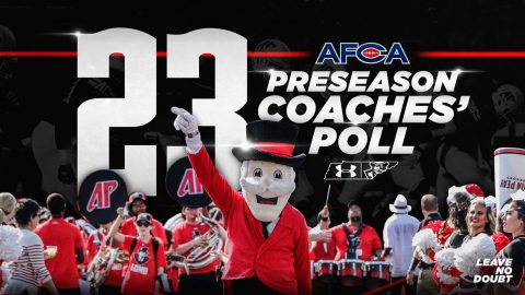 Austin Peay Football ranks No. 23 in American Football Coaches Association FCS Coaches' Top 25 Poll. (APSU Sports Information)