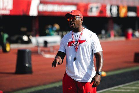Austin Peay running backs coach Brandon Jackson. (APSU Sports Information)
