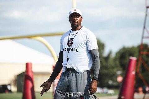 Austin Peay State University Football wide receivers coach Todd Pinkston. (APUS Sports Information)