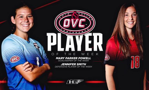 Austin Peay Women Soccer's Jennifer Smith and Mary Parker Powell receive OVC Honors. (APSU Sports Information)