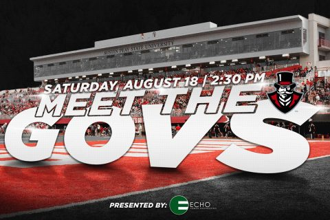 """Meet the Govs"" event to be held after Austin Peay Football scrimmage Saturday, August 18th. (APSU Sports Information)"