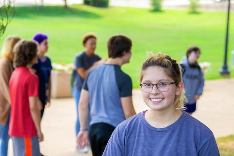 APSU's Marea Blake, senior biology and social work major, became a mentor to support students with autism.