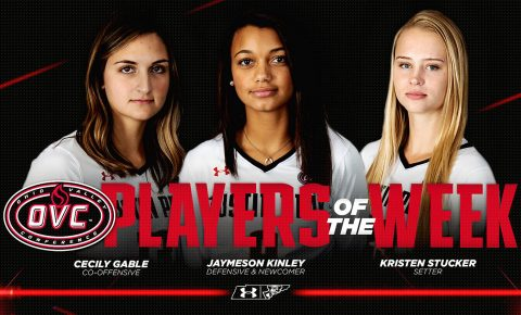 Austin Peay Women's Volleyball's Cecily Gable, Jaymeson Kinley, and Kristen Stucker earn OVC Weekly Honors. (APSU Sports Information)
