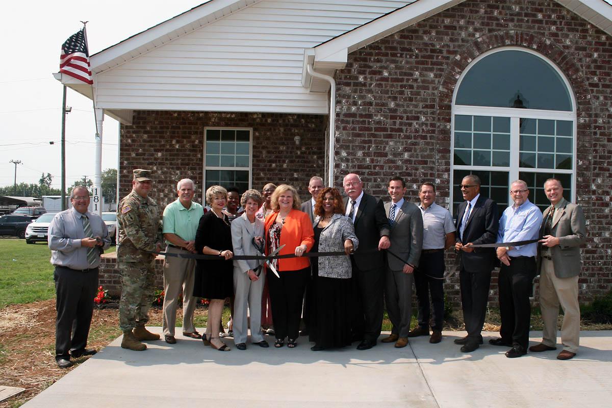 Clarksville Mayor Kim McMillan, Buffalo Valley Inc. CEO Jerry Risner, THDA  Liaison Denise
