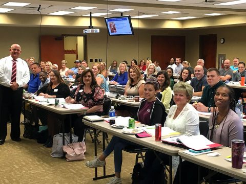 Instructor Greg Glosson leading the Military Relocation Professional (MRP)P Class at Clarksville Association of Realtors.