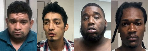 (L to R) Daniel Corona, Nelson Urias, DeAndrea Perry and Quantrez Pitts arrested in West Tennessee for selling drugs.