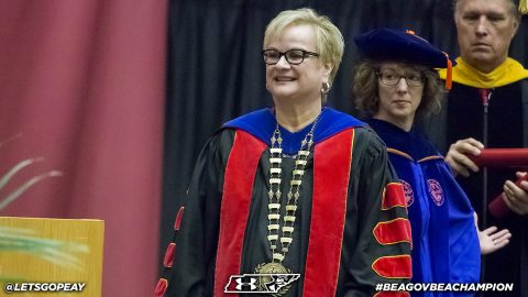 Austin Peay has eleven athletics alumni, staff and student-athletes take part in 2018 August Commencement. (APSU Sports Information)